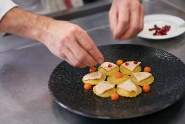 Raviolis de courge aux copeaux de foie gras