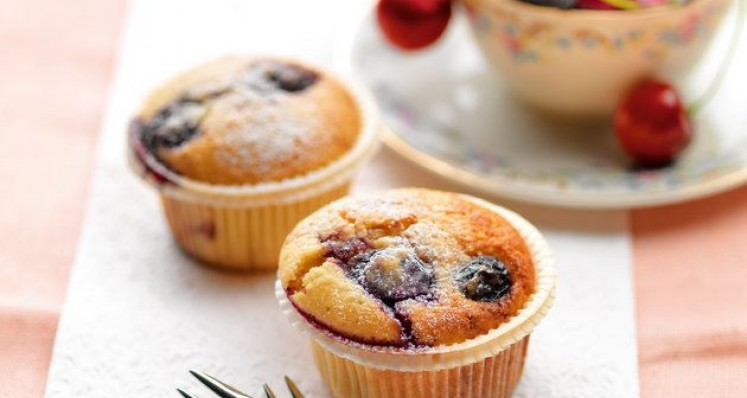 Kirschen Jogurt Mandel Muffins