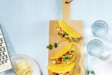Taco Shells mit Poulet und Gruyère AOP